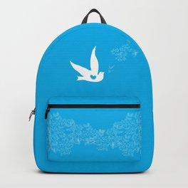 Wings of Love - Blue Backpack