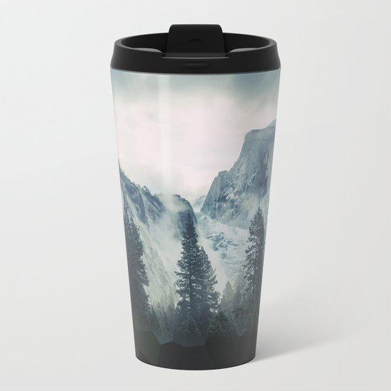 Cross Mountains Metal Travel Mug