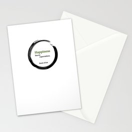 Happiness Has No Expectations Quote Stationery Cards