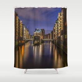 Hamburg River Shower Curtain