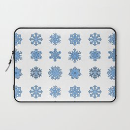 Snowflake Pattern Christmas Winter Snow Gift Design Laptop Sleeve