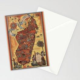 Map of Madagascar 1952 Stationery Cards