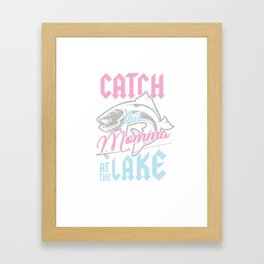 Bass Fishing Fisherwoman Fisher Catch This Momma At Lake Framed Art Print