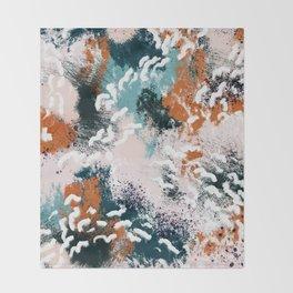 Clara Abstract Throw Blanket