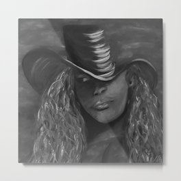 Invisible 2 by Lu, black-and-white Metal Print