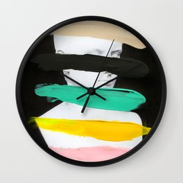 Untitled (Finger Paint 1) Wall Clock