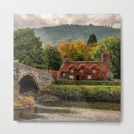 Llanrwst Cottage  Metal Print