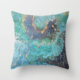 """Golden Coast"" Throw Pillow"