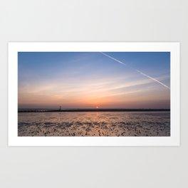 Humber Estuary Sunrise Art Print