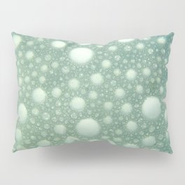 Abstract green teal modern polka dots texture pattern Pillow Sham