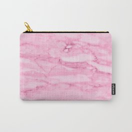 Hollywood Pink Faux Marble Carry-All Pouch
