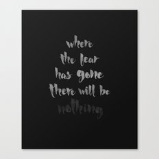 Litany Against Fear Canvas Print