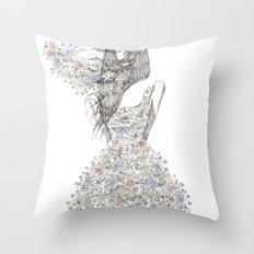 Flower Girl - pattern Throw Pillow