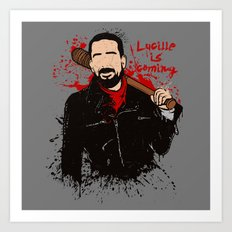 Lucille is coming Art Print