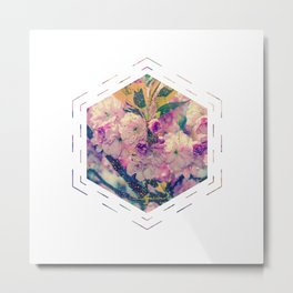 Subtly Flourishing - Hexagon Metal Print