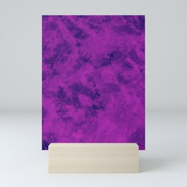 Magenta Purple Abstract Texture Mini Art Print