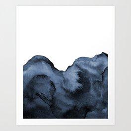 Watercolor Splash in Blue Art Print
