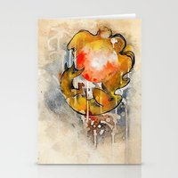 sun and moon Stationery Cards featuring Sun & Moon by Rubis Firenos