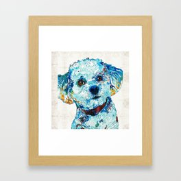 Small Dog Art - Who Me - Sharon Cummings Framed Art Print