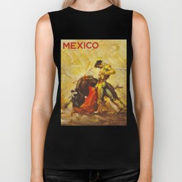 Vintage Mexico Bullfighting Travel Biker Tank