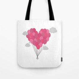 Balloons arranged as heart Tote Bag