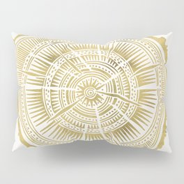 Paper Birch – Gold Tree Rings Pillow Sham