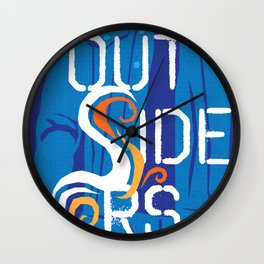 80s TEEN MOVIES :: THE OUTSIDERS Wall Clock