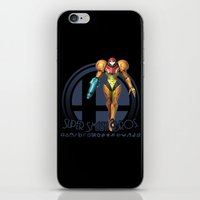 super smash bros iPhone & iPod Skins featuring Samus - Super Smash Bros. by Donkey Inferno
