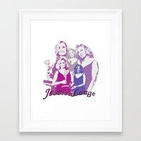 jessica lange Framed Art Prints featuring Jessica Lange - Emmys 2014 by BeeJL