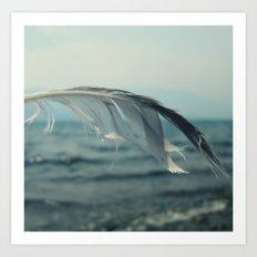Ocean Feather Art Print