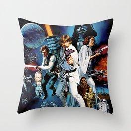 Space Opera British Version Throw Pillow