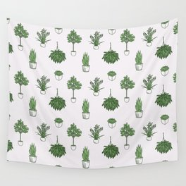 House Plants Pattern Wall Tapestry