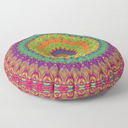 Mandala 458 (NEON) Floor Pillow