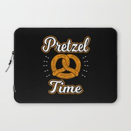 National Pretzel Day It's Pretzel Time Laptop Sleeve