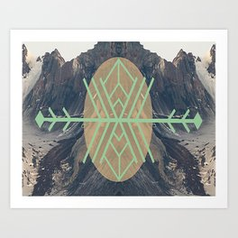 Mountains With Green Art Print