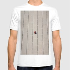 Lonely Flower MEDIUM White Mens Fitted Tee