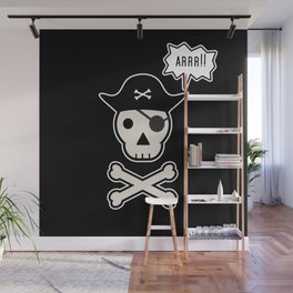 Skul face pirate Wall Mural