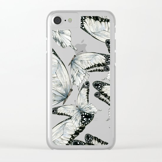 Nymphalidae Butterflies Clear iPhone Case