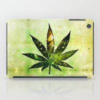 marijuana iPad Cases featuring Marijuana Leaf - Design 3 by Spooky Dooky