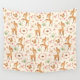 forest animals pattern Wall Tapestry
