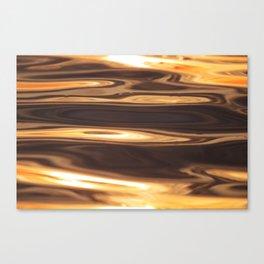 Water Sunset Pattern Canvas Print