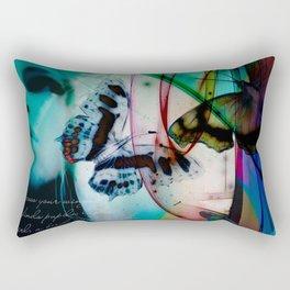 Butterflies in the twilight Rectangular Pillow