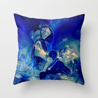 angels Throw Pillows featuring angels by  Agostino Lo Coco