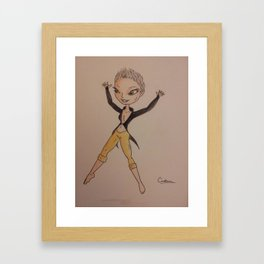 Wingless fairy Framed Art Print