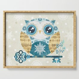 Winter Wonderland Owl Serving Tray