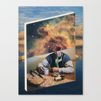 introvert Canvas Prints featuring Introvert by Nick Marchese
