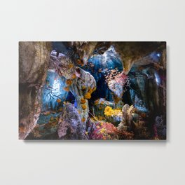 Enchanted Caves Metal Print
