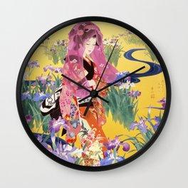 Syoubu by Haruyo Morita Wall Clock