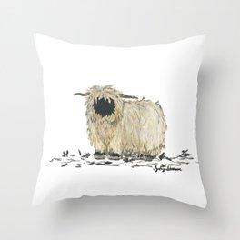 Sheepish Sheep Throw Pillow