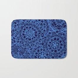 Periwinkle Blue Ballpoint Pen Lace Doodle Bath Mat